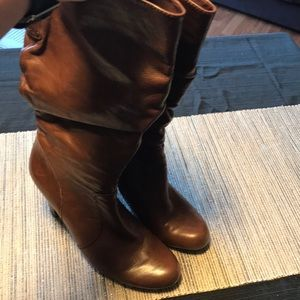 Guess Leather Brown Knee Boots US 11M